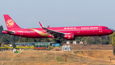 A picture of B8068 - Airbus A321211 - Juneyao Airlines - © SZ4509
