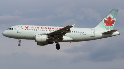 A picture of CFYKR - Airbus A319114 - Air Canada - © Shon F