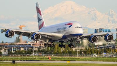 G-XLEI - Airbus A380-841 - British Airways