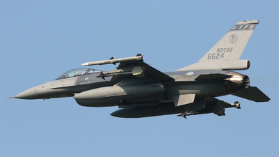 6624 - General Dynamics F-16AM Fighting Falcon - Taiwan - Air Force