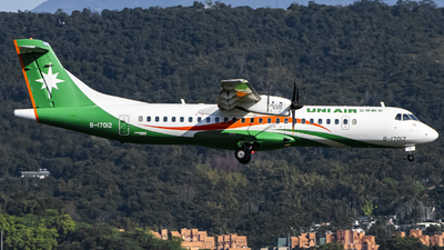 A picture of B17012 - ATR 72600 - UNI Air - © Chao Aviation