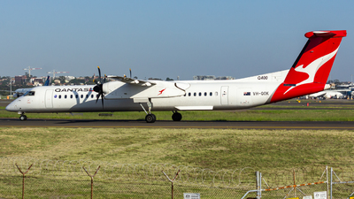 A picture of VHQOK - De Havilland Canada Dash 8400 - QantasLink - © Yota Takeshima