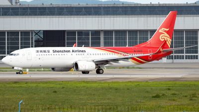 A picture of B1377 - Boeing 73787L - Shenzhen Airlines - © Amber Xuan