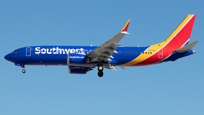 A picture of N8728Q - Boeing 737 MAX 8 - Southwest Airlines - © Sandra