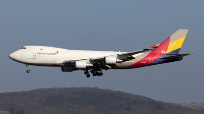 A picture of HL7436 - Boeing 74748EF(SCD) - Asiana Airlines - © Hanjo Schrenk