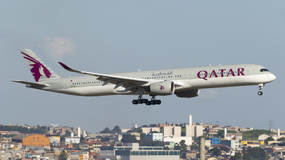 A picture of A7ANF - Airbus A3501041 - Qatar Airways - © Lucas Sérgio