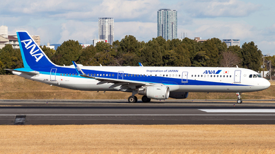 A picture of JA111A - Airbus A321211 - All Nippon Airways - © LUSU