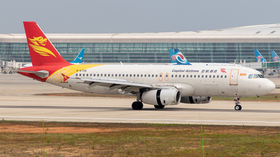 A picture of B6726 - Airbus A320232 - Capital Airlines - © Eric Wang