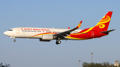 A picture of B5521 - Boeing 73784P - Hainan Airlines - © Danny Yu