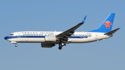 A picture of B5587 - Boeing 73781B - China Southern Airlines - © sunshy0621
