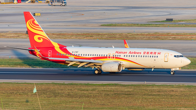 A picture of B1797 - Boeing 73784P - Hainan Airlines - © Yan Shuai