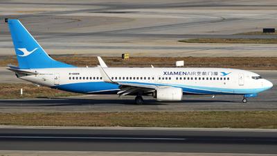 A picture of B6889 - Boeing 7378MB - Xiamen Air - © lihutao