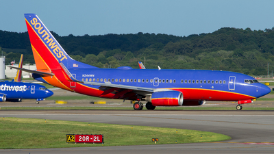 A picture of N244WN - Boeing 7377H4 - Southwest Airlines - © Dylan Cannon