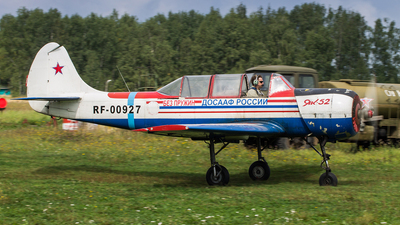RF-00927 - Yakovlev Yak-52 - Russia - Defence Sports-Technical Organisation (ROSTO)