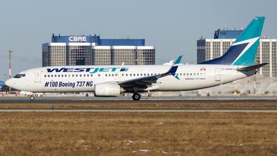 A picture of CGAWS - Boeing 7378CT - WestJet - © Tianyi Liu