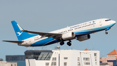 A picture of B5788 - Boeing 73785C - Xiamen Air - © Aaron_ZSAM