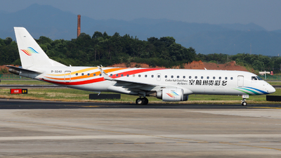 A picture of B3240 - Embraer E190LR - Colorful GuiZhou Airlines - © Contrail