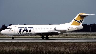 F-GDUT - Fokker F28-2000 Fellowship - TAT European Airlines