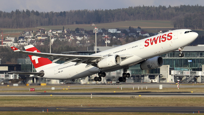 A picture of HBJHI - Airbus A330343 - Swiss - © Johannes Reichert