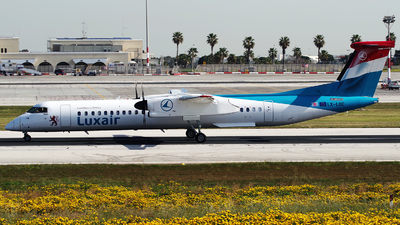 A picture of LXLQC - De Havilland Canada Dash 8400 - Luxair - © Buzu