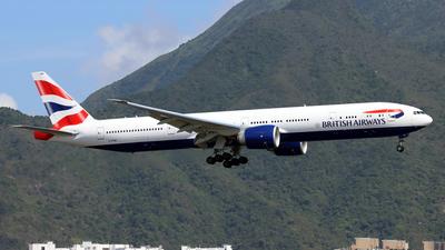 A picture of GSTBM - Boeing 777300(ER) - British Airways - © Jubilant Chan - AHKGAP