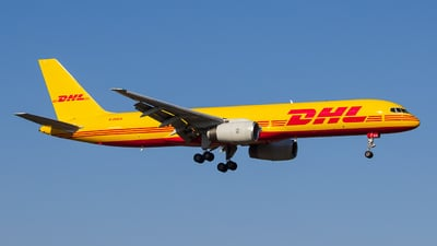 A picture of GDHKH - Boeing 75728A(PCF) - DHL - © António Jorge Oliveira