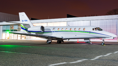 A picture of OKEMA - Cessna 680 Citation Sovereign - Smartwings - © J.Evrard-AirTeamImages