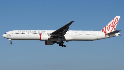 A picture of VHVPF - Boeing 7773ZG(ER) - Virgin Australia - © John Yu