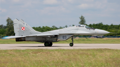 83 - Mikoyan-Gurevich MiG-29A Fulcrum - Poland - Air Force
