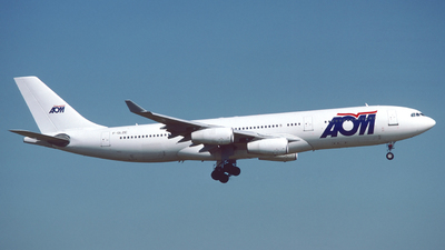 F-GLZE - Airbus A340-211 - AOM French Airlines