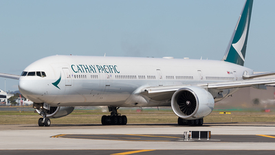 A picture of BKPM - Boeing 777367(ER) - Cathay Pacific - © Tony Coles