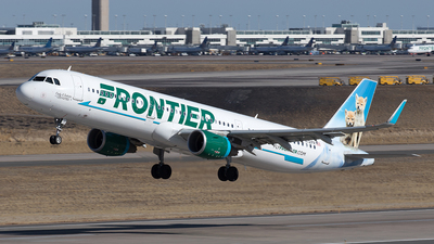 A picture of N721FR - Airbus A321211 - Frontier Airlines - © Yixin Chen