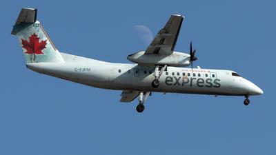 A picture of CFJFM - De Havilland Canada Dash 8300 - Air Canada - © Hongyu Wang
