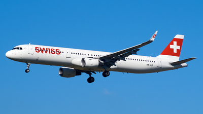 A picture of HBIOO - Airbus A321212 - Swiss - © JakkoFly
