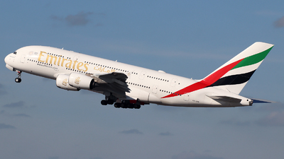 A picture of A6EUM - Airbus A380842 - Emirates - © n94504