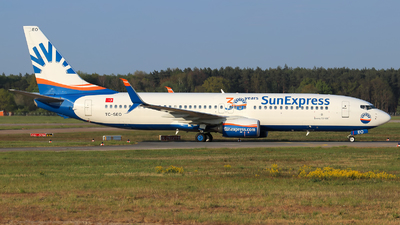 A picture of TCSEO - Boeing 7378HC - SunExpress - © Lars Rohde
