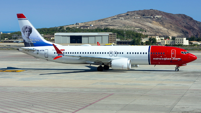 A picture of SERTB - Boeing 737 MAX 8 - Norwegian - © Besay Cabrera