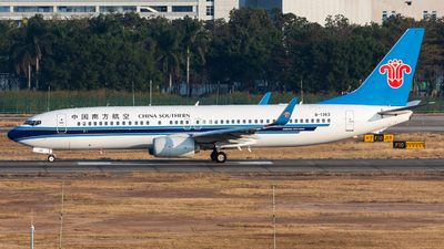 A picture of B1363 - Boeing 73781B - China Southern Airlines - © Jack  Li