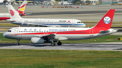 A picture of B6348 - Airbus A320232 - Sichuan Airlines - © F3E1988