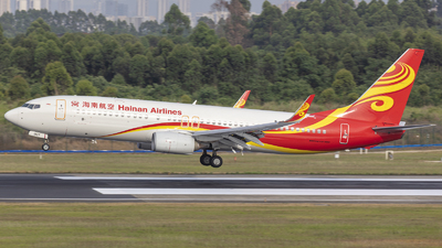 A picture of B1927 - Boeing 73784P - Hainan Airlines - © Eric Wang