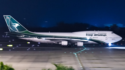 A picture of YIASA - Boeing 7474H6 - Iraqi Airways - © Zhou Qiming