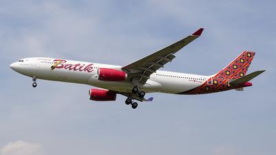 PK-LEM - Airbus A330-343 - Batik Air