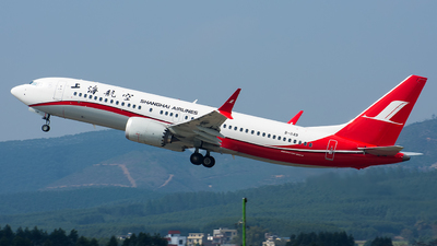 A picture of B1149 - Boeing 737 MAX 8 - Shanghai Airlines - © Marcus Yu