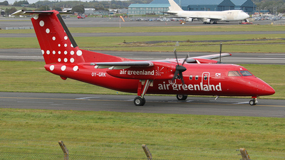 A picture of OYGRK - De Havilland Canada Dash 8200 - Air Greenland - © Ian Howat