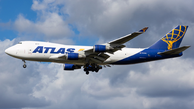 A picture of N493MC - Boeing 74747U(F) - Atlas Air - © Matteo Lamberts