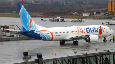 A picture of A6FMD - Boeing 737 MAX 8 - FlyDubai - © airnails