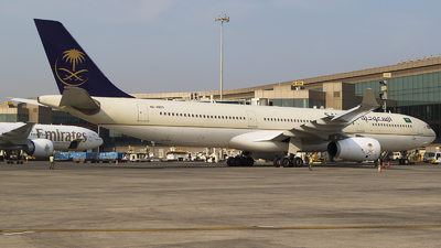 A picture of HZAQ23 - Airbus A330343 - Saudia - © Akshay M