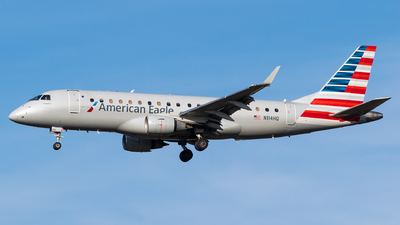A picture of N114HQ - Embraer E175LR - American Airlines - © Evan Dougherty