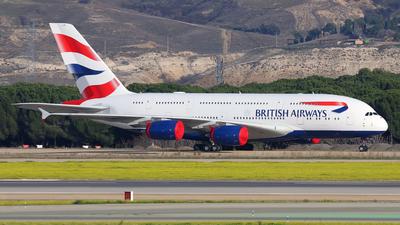 A picture of GXLEI - Airbus A380841 - British Airways - © Óscar López Herrero
