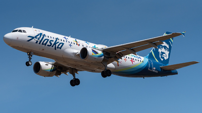 A picture of N854VA - Airbus A320214 - Alaska Airlines - © Nick Michaud